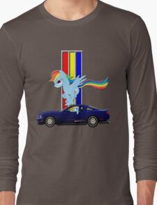 Mustang Rainbow Dash  Long Sleeve T-Shirt