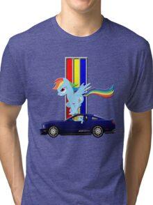 Mustang Rainbow Dash  Tri-blend T-Shirt