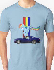 Mustang Rainbow Dash  Unisex T-Shirt