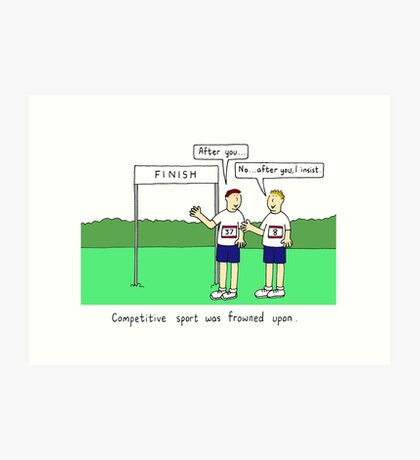 Competitive sport. Art Print