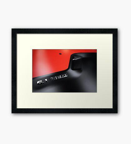Le Rouge et le Noir Framed Print