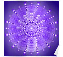 Healing Mandala Electric Violet Blue Light Poster