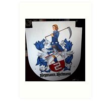 Coat of Arms (painting) Art Print