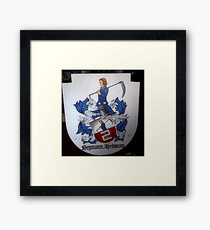 Coat of Arms (painting) Framed Print