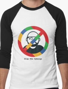 Support The Humans - Stop The Cyborgs Men's Baseball ¾ T-Shirt