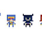 The X-Men Pixel Prints by MezzMerritt