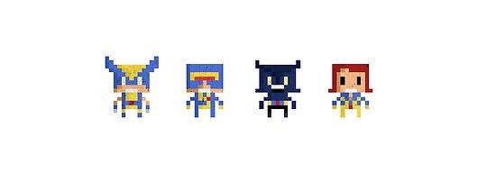The X-Men Pixel Prints by MezzMerritt