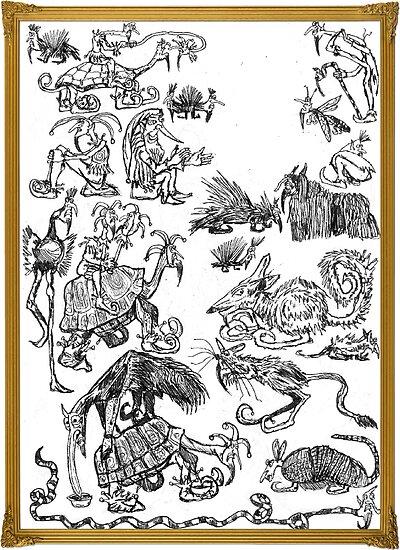 Drawings by a real deal fool by jollykangaroo