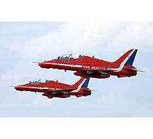 Red Arrows Pair Photographic Print
