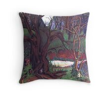 my home in the woods . . . . Throw Pillow