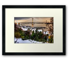 Queensferry Harbour and Road Bridge Framed Print