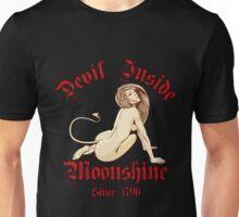 Sexy Devil Inside Moonshine Unisex T-Shirt