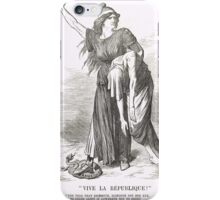 Vive La Republique Punch cartoon 1894 iPhone Case/Skin