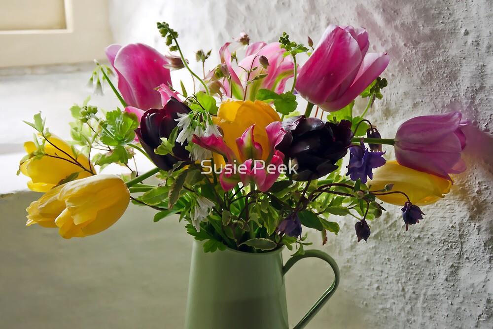 Flowers In The Window by Susie Peek