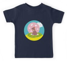 Capybara in Love Kids Tee