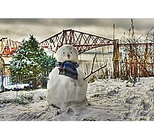 Snowman - cropped Photographic Print