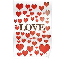 Love Heart Valentines Design Poster