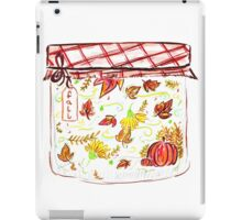 Autumn / Fall season in a jar iPad Case/Skin
