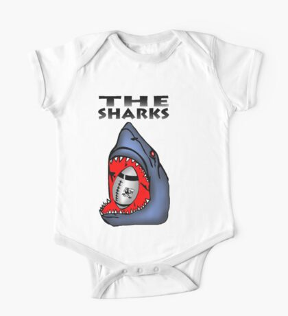 NATAL SHARKS SHARK ATTACK FOR SOUTH AFRICA RUGBY SUPER RUGBY One Piece - Short Sleeve