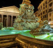 Fountain At Pantheon by Yhun Suarez