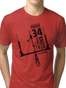 Power 34 Knots Kitesurfing Light Tri-blend T-Shirt