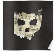 SKULLHIO - Ohio Shaped Skull Poster