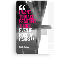 Creative Quote Design 001 Saul Bass Canvas Print