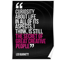 Creative Quote Design 003 Leo Burnett Poster