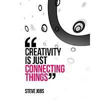 Creative Quote Design 004 Steve Jobs Photographic Print