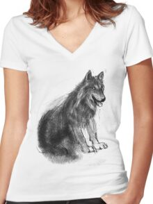 Companion Women's Fitted V-Neck T-Shirt