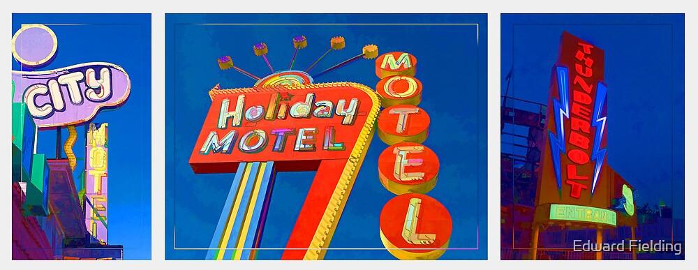 Vintage Neon Signs Trio by Edward Fielding