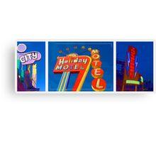 Vintage Neon Signs Trio Canvas Print