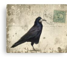 Post Card Nevermore Canvas Print