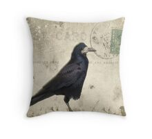 Post Card Nevermore Throw Pillow