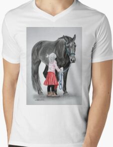 """Saying Goodbye to a Unicorn"" Mens V-Neck T-Shirt"