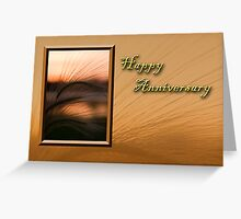Happy Anniversary Grass Sunset Greeting Card