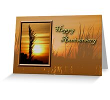 Happy Anniversary Sunset Greeting Card