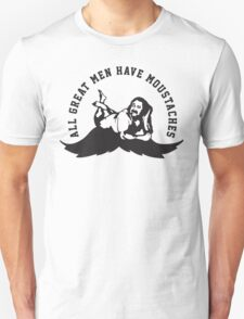 Defending Awesome - All Great Men Have Moustache Ron Jeremy Unisex T-Shirt