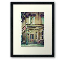 corner building Framed Print
