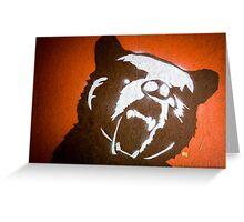 Grizzly Bear Graffiti Greeting Card