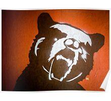 Grizzly Bear Graffiti Poster