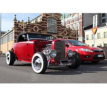 red roadster Photographic Print
