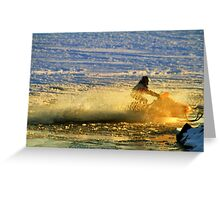 Open Water Sledding Greeting Card