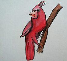 Territorial Cardinal by Keelie Webb