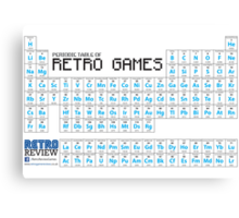 Periodic Table of Retro Games - Chemistry has never been so fun! Canvas Print