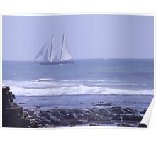 Tall Ship Sailing Around Point Loma Poster