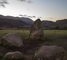 Sunrise over Castlerigg Stone Circle (4) by walksindreams