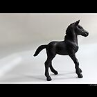 Schleich Vintage Black Foal Toy Figurine by © Sophie W. Smith