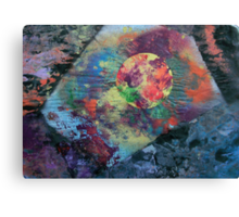Planet radiating energy into angular space Canvas Print