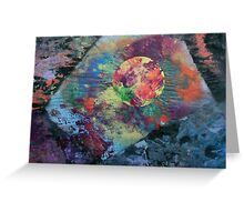 Planet radiating energy into angular space Greeting Card